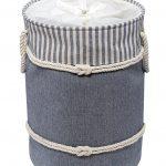Nautica Laundry Hamper Navy/Cream with Drawstring