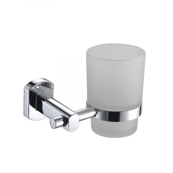 """Wall Mounted Rust Proof Polished Chrome """"Admiralty"""" Toothbrush Holder / Tumbler"""