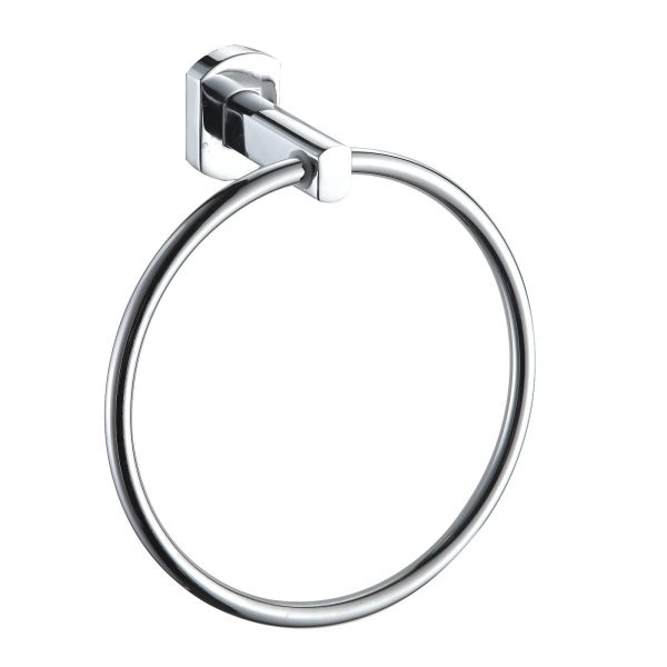"""Wall Mounted Rust Proof Polished Chrome """"Admiralty"""" Towel Ring"""