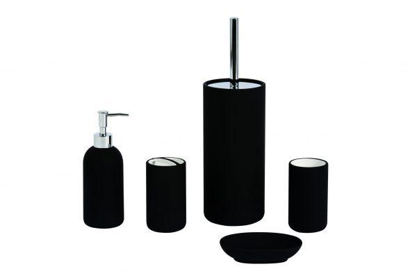Fumo Black 5 pc Bathroom Accessory Set