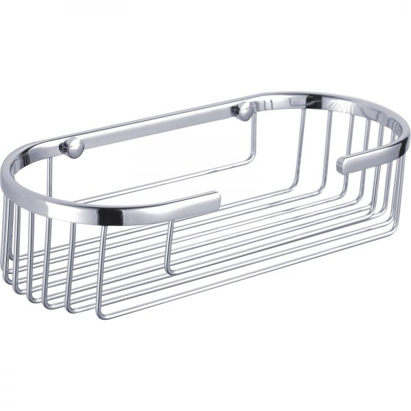 "High Quality Rust Proof Stainless Steel ""Clasico"" Oval Bathroom / Bottle Basket"