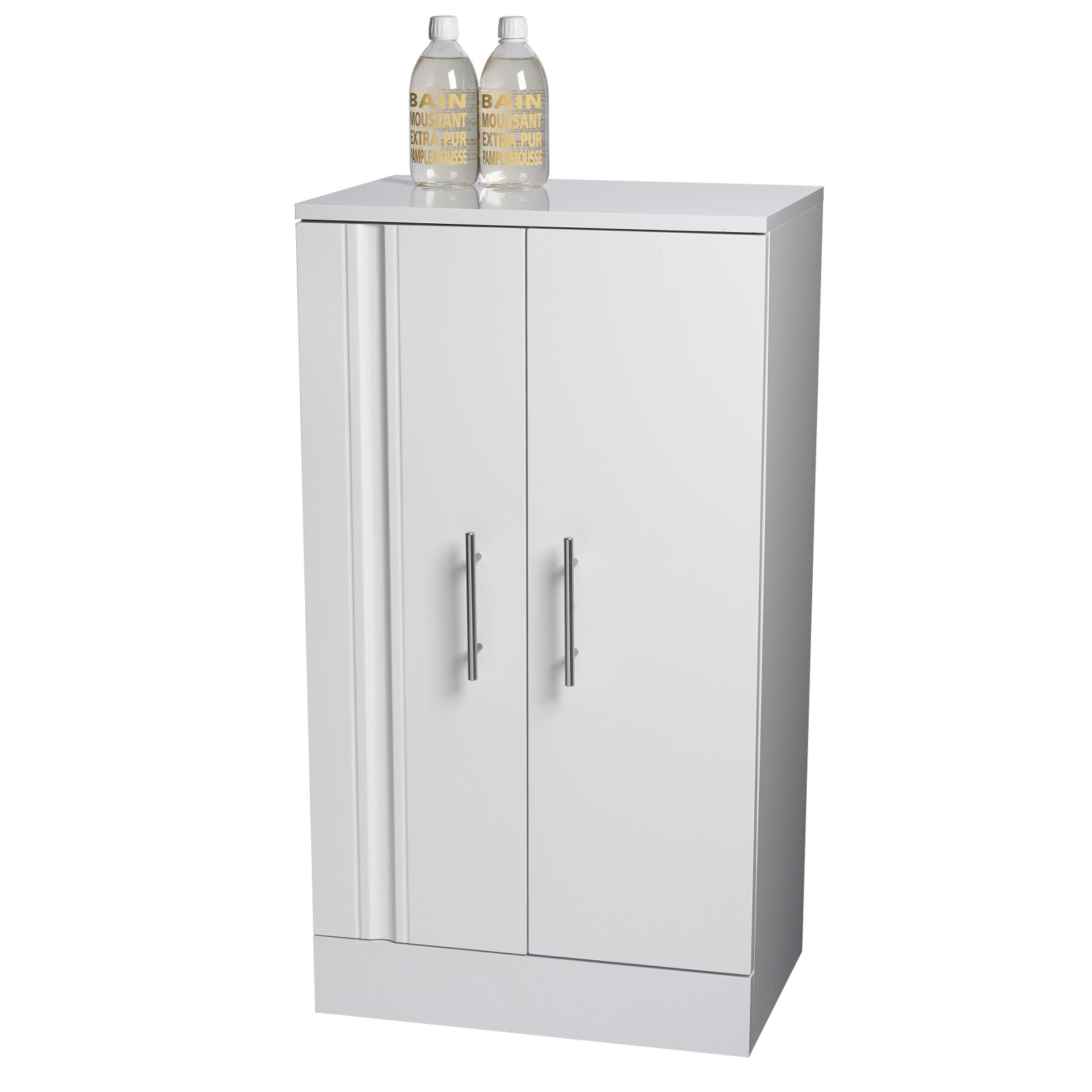 Buy Floor Standing White Como Bathroom Cabinet W Soft Close Double Doors Back2bath