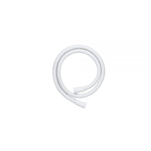 White PVC Shower Hose 1.5m x 8mm