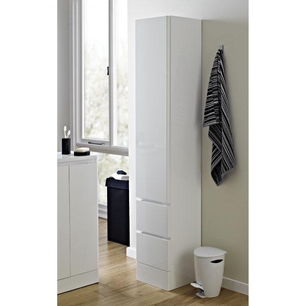 "Soft Close White ""Zurich"" Bathroom Tallboy"