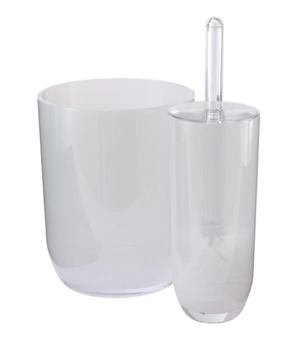"Frosted Acrylic ""Ice"" Bathroom Bin"