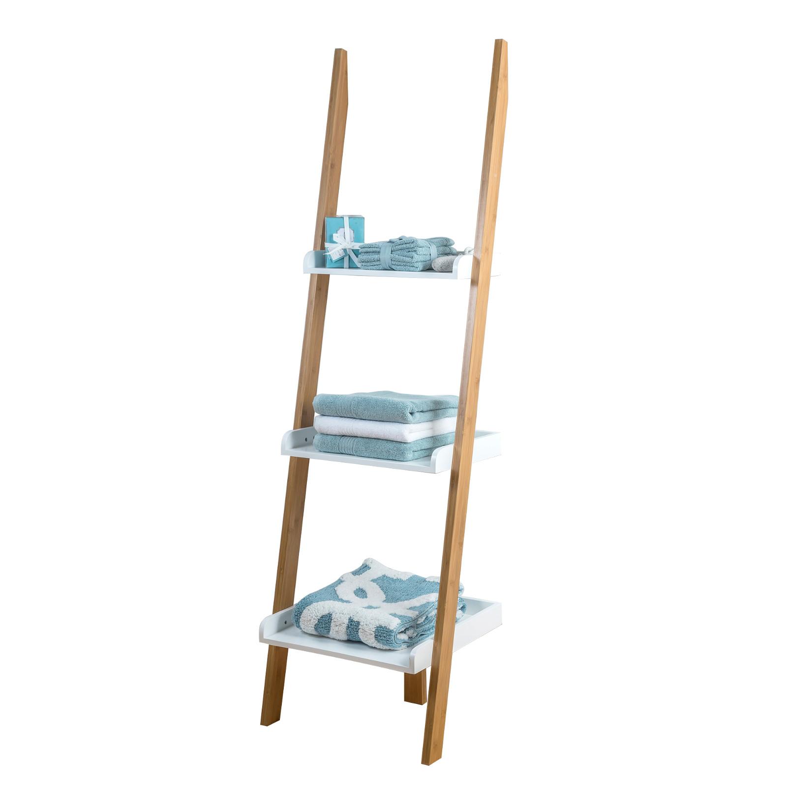 Pleasant Buy Bamboo 3 Tier Kobe Leaning Bathroom Shelf Unit Back2Bath Interior Design Ideas Clesiryabchikinfo
