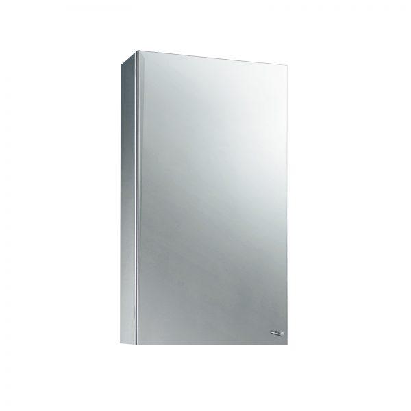 """Stainless Steel """"Messina"""" Single Door Bathroom Mirror Cabinet"""
