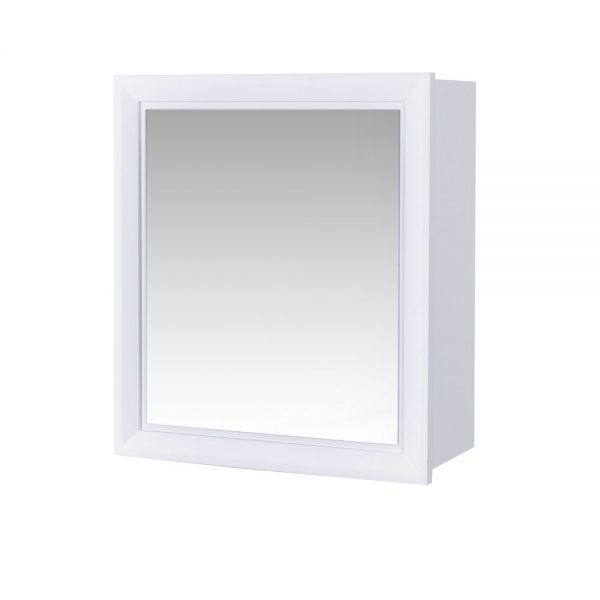 "Wall Mounted Matte White ""Moreton"" Bathroom Mirror Cabinet"