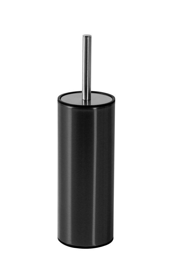 Nexus Curved Toilet Brush and Holder, Grey Finish