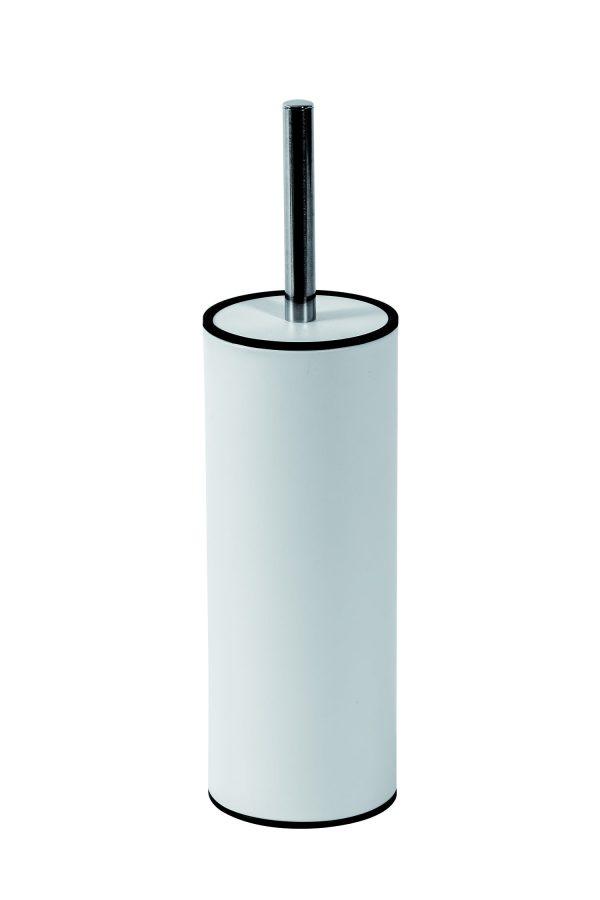 Nexus Curved Toilet Brush and Holder, White Finish