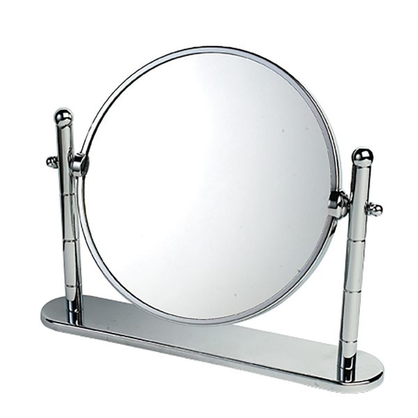 "3 x Magnification Chrome on Brass ""Omega"" Vanity Mirror"