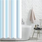 Brighton Rock BLUE Shower Drapes