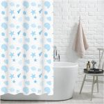 "100% Polyester ""Aruba"" Printed Beach Pattern Shower Curtain"