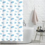 "100% Polyester ""Snapper"" Printed Fish Design Shower Curtain"