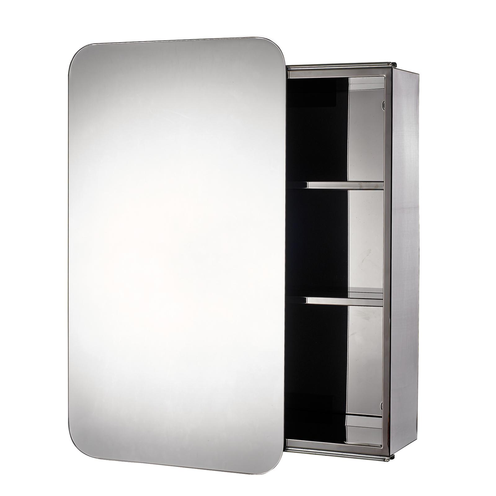 Buy Stainless Steel Quot Sanremo Quot Sliding Door Bathroom Mirror
