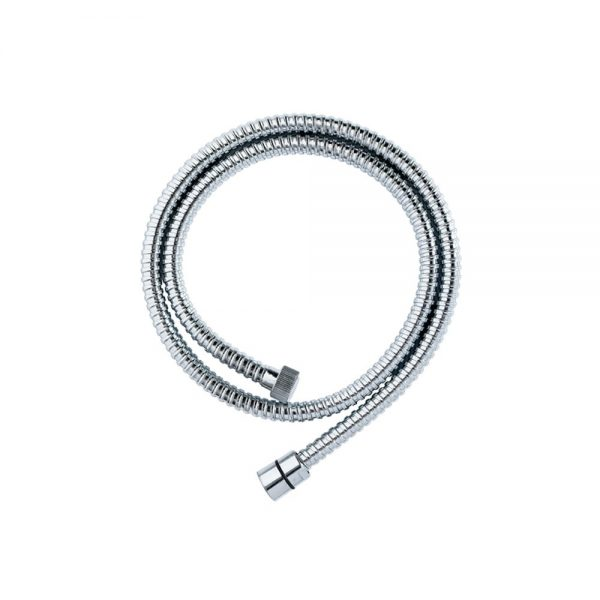 Chrome Single Spiral Shower Hose – 1.5m x 8mm