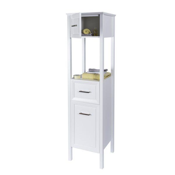"""Matte White """"Stretton"""" Bathroom Tallboy Cabinet"""