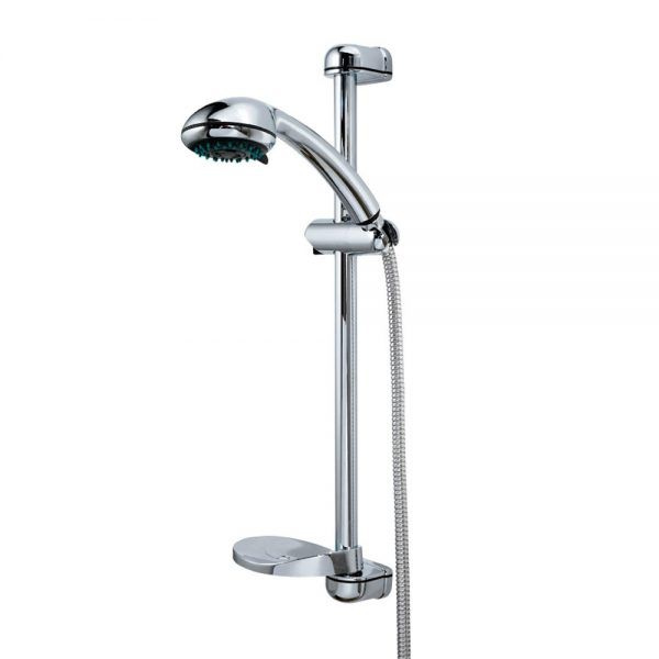"Complete Chrome ""Tri-Jet"" Shower Kit"