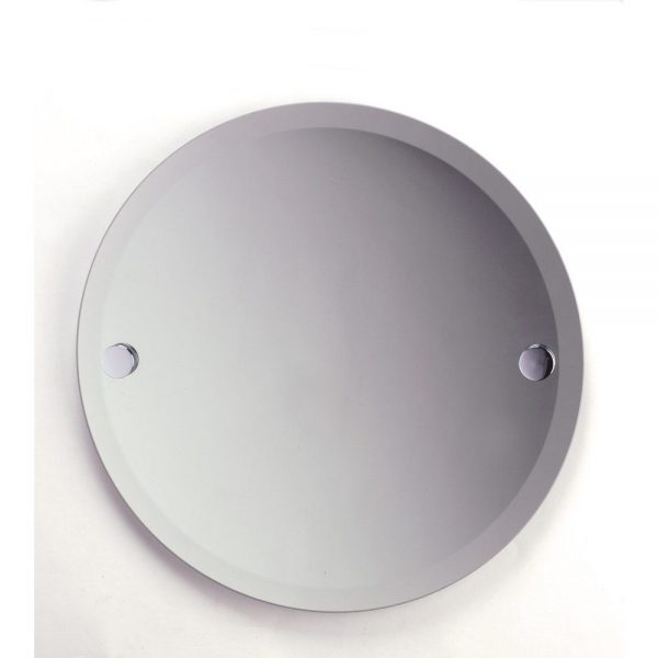 "Frameless Round ""Tricolour"" Wall Mounted Bathroom Mirror 45x45cm"