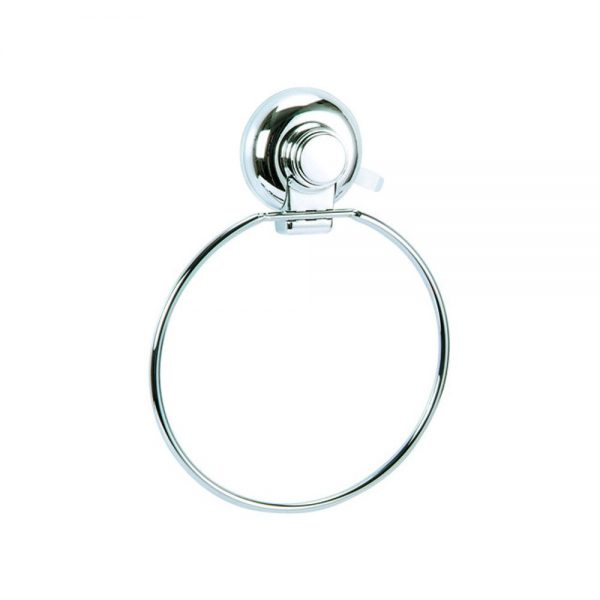 "Super Suction ""Vertex"" Chrome Effect Towel Ring"