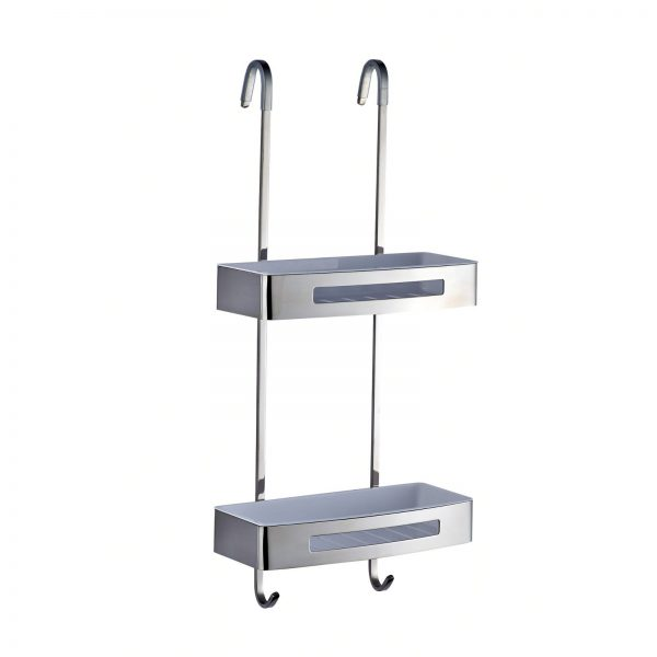 """Rust Proof Stainless Steel/ABS Plastic """"Bagno"""" Hanging Shower Caddy"""