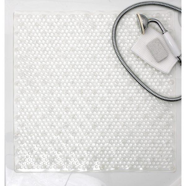 "Showerdrape Clear Plastic ""Bubble"" Anti / Non Slip Shower Mat"