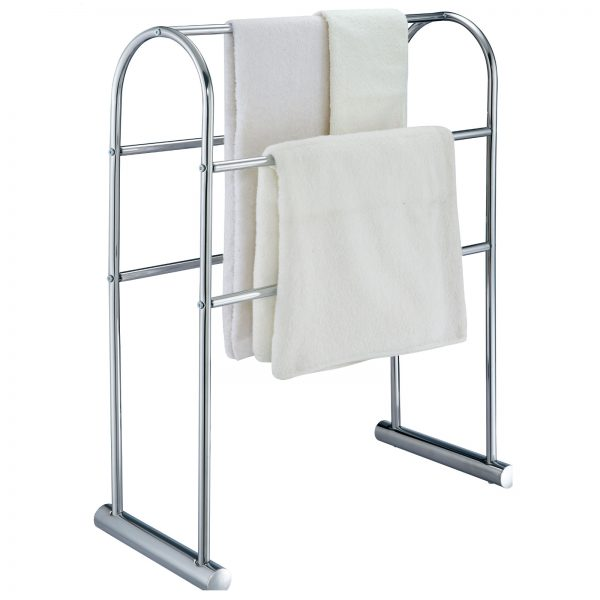 "Free Standing ""Cecil"" Chrome Towel Stand / Rack"