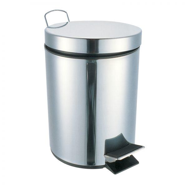 "Stainless Steel ""Kalix"" 3-Litre Bathroom / Kitchen Pedal Bins"
