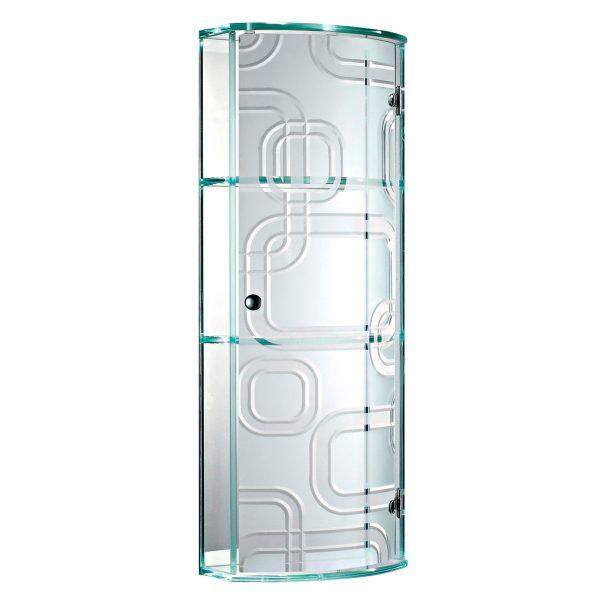 "Wall Mounted ""Ferrara"" Frosted Glass Bathroom Cabinet"