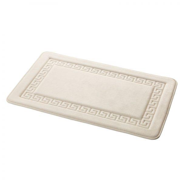 "Memory Foam Greek Key Design ""Grecian"" Bathroom Floor Mats (6)"