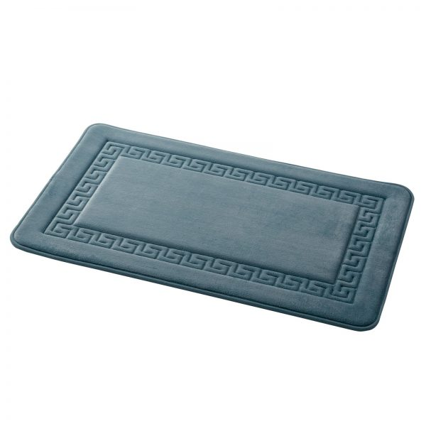 "Memory Foam Greek Key Design ""Grecian"" Bathroom Floor Mats (2)"