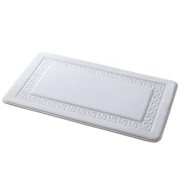 "Memory Foam Greek Key Design ""Grecian"" Bathroom Floor Mats"