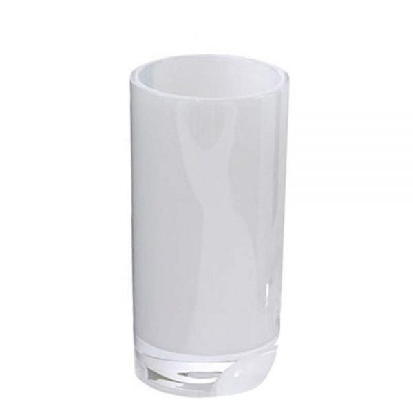 """Frosted Acrylic """"Ice"""" Bathroom Tumbler / Toothbrush Holder"""