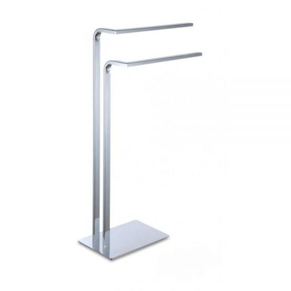 """Free Standing """"Kingston"""" Steel Towel Rail / Stand with Chrome Finish"""