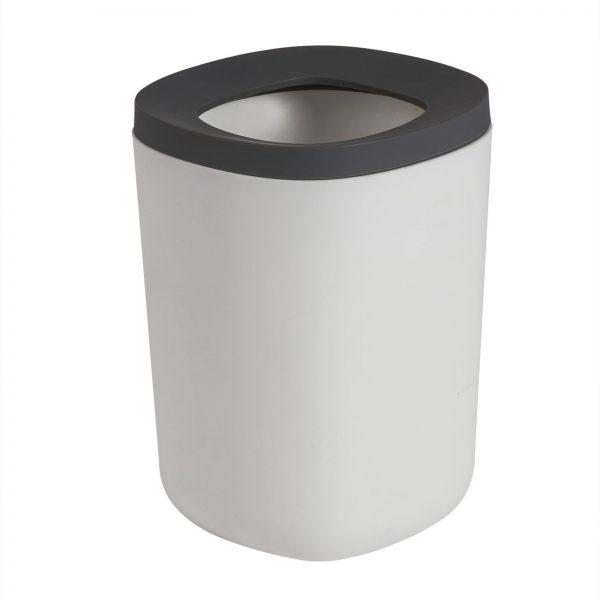 "White & Grey Plastic ""Kuba"" Waste Bin"