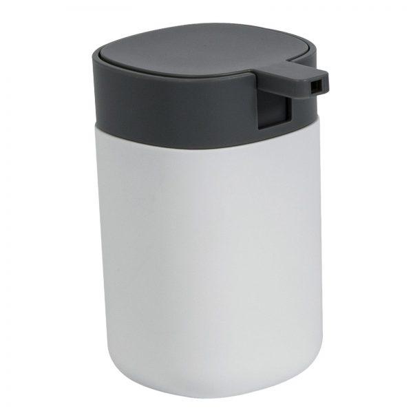 "White & Grey Plastic ""Kuba"" Liquid Soap Dispenser"