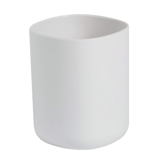 "White Plastic ""Kuba"" Tumbler"