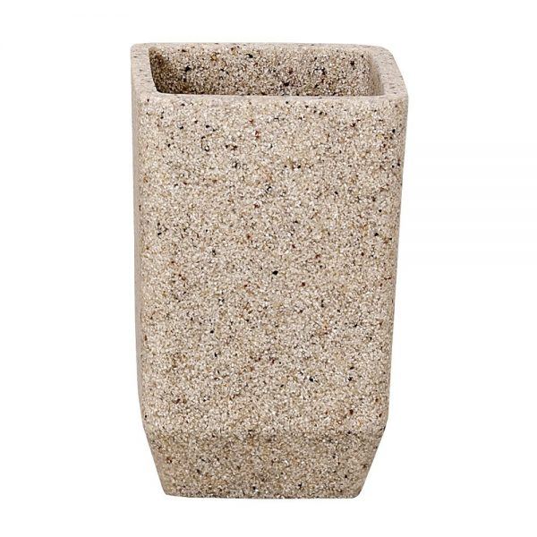 "Sand Effect ""Metro"" Bathroom Tumbler / Toothbrush Holder"