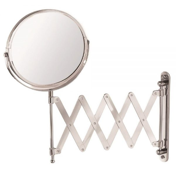 "Wall Mounted Chrome Extendable ""Mundo"" Shaving / Vanity Mirror"