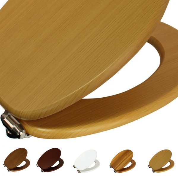 "Wood Effect ""Norfolk"" Soft Close Toilet Seats"