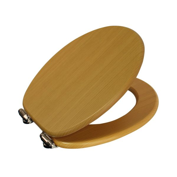 "Wood Effect ""Norfolk"" Soft Close Toilet Seats (5)"