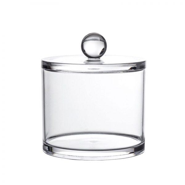 """Clear Acrylic """"Serene"""" Small Storage Jar"""