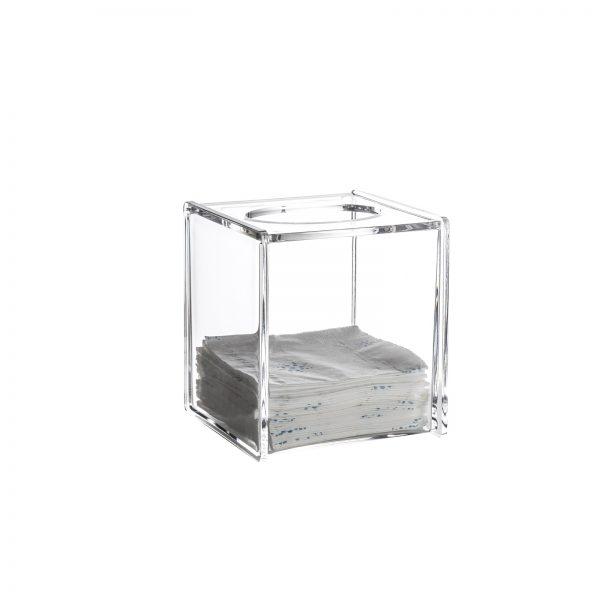 "Clear Acrylic ""Serene"" Square Tissue Box"