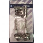 Showerdrape Stainless Steel Replacement Toilet Seat Hinges