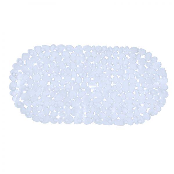 "Clear Plastic ""Stone"" Anti / Non Slip Bath Mat"