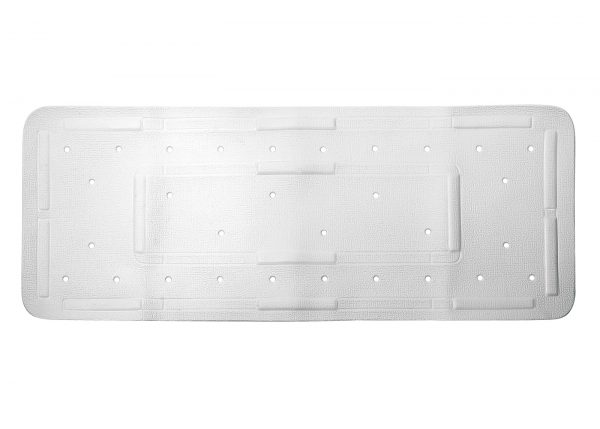 "Showerdrape Extra Long White ""Comfy"" Rubber Anti / Non Slip Bath Mat"