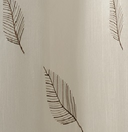 "100% Polyester ""Natura"" Embroidered Shower Curtain"