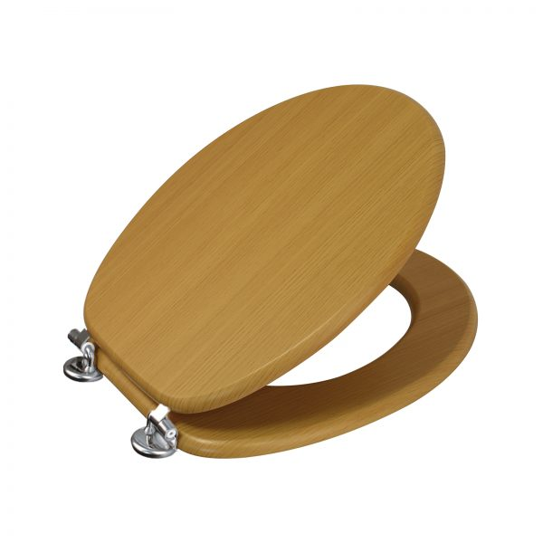"Wood Effect ""Oxford"" Toilet Seats (5)"