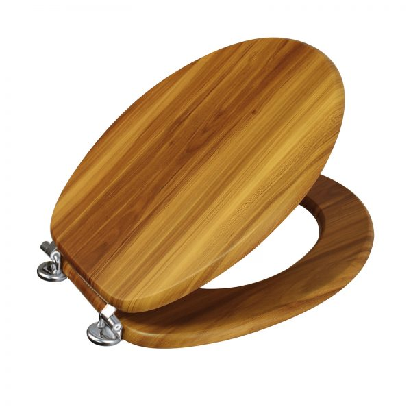 "Wood Effect ""Oxford"" Toilet Seats (3)"