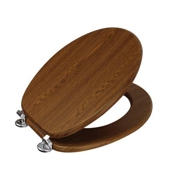 "Wood Effect ""Oxford"" Toilet Seats (6)"